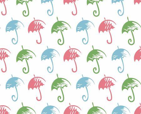 seamless: Seamless background with umbrellas. Illustration