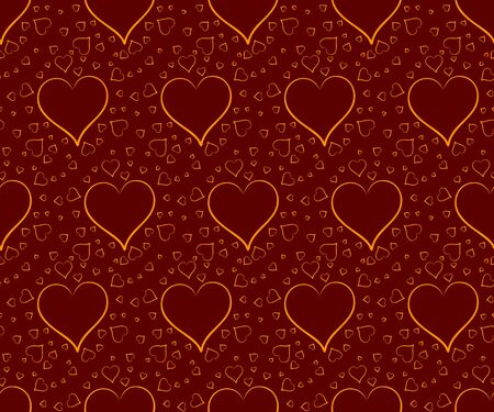 seamless: Seamless background with hearts. Illustration