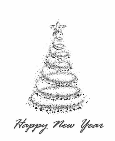 new year card: Card with New Year tree.