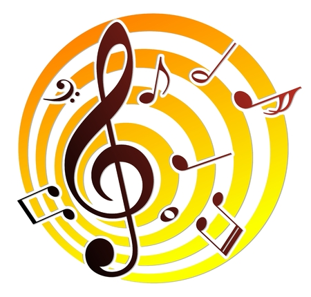 the music: music notes.