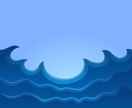 big waves: Sea with big waves.