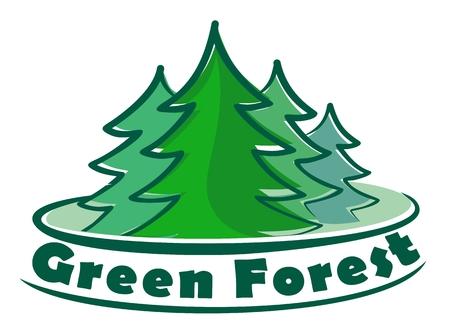 coniferous: Logo coniferous forest.