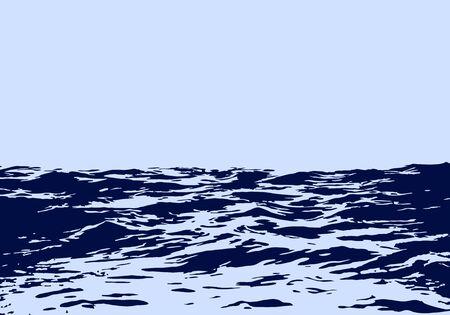 sea landscape: Sea landscape with big waves.