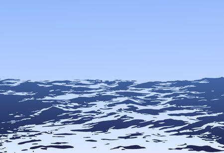 big waves: Sea landscape with big waves.