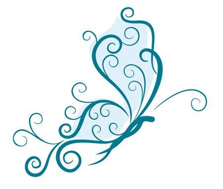 blue butterfly: Blue butterfly.