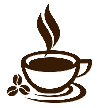 ilustracja wektorowa filiżanka kawy.