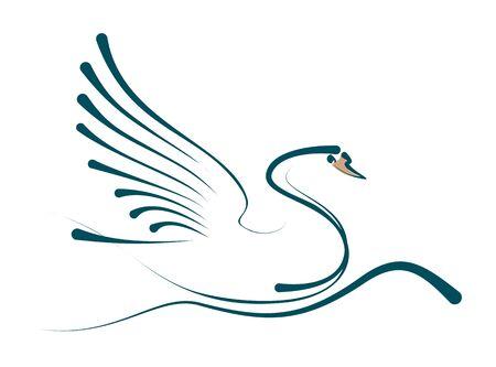 floating: Floating swan.