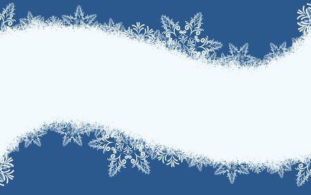 snowfalls: Frame with snow.
