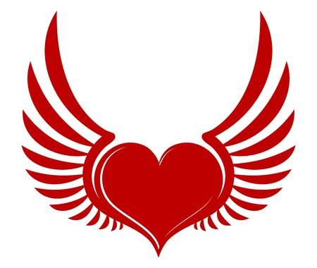 wingspan: Heart with wings.