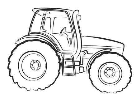 Sketch large tractor.
