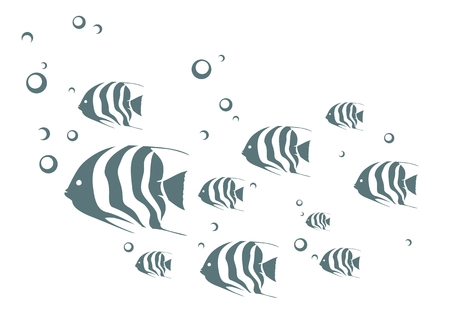 seabed: Fish in the water.