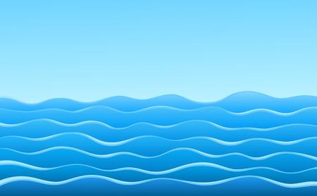 Sea. Illustration
