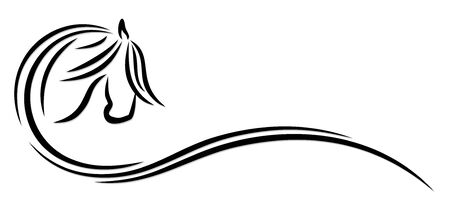 ロゴの馬。