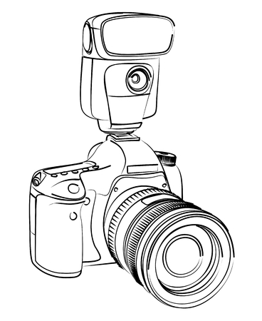 Camera Sketch. Illustration