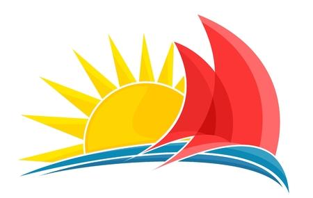 Sailing vessel Logo. Illustration