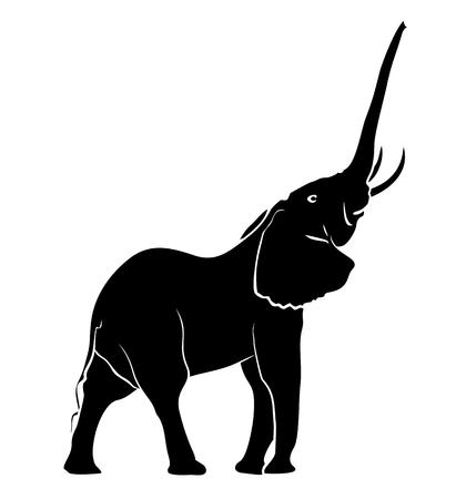 Schets van olifant. Stock Illustratie