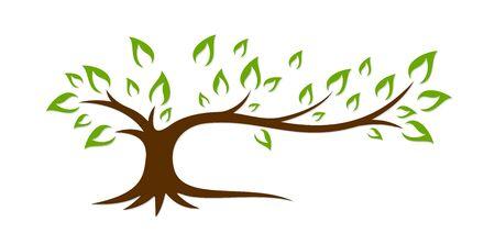 agronomics: Logo green tree.