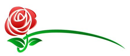 로고 양식에 일치시키는 장미. 일러스트
