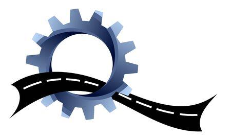 道路のロゴ。 写真素材 - 82523920