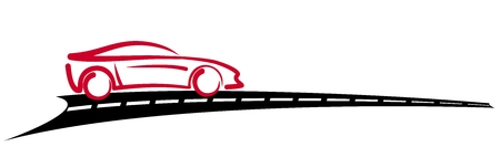 Car Logo with road.