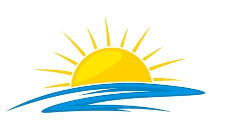 Logo sun and sea. Logo