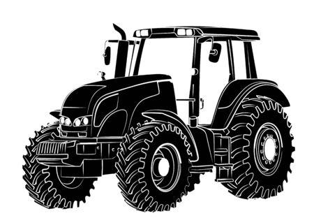Tractor Sketch. Illustration