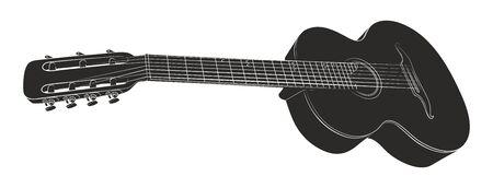 Guitar sketch illustration.