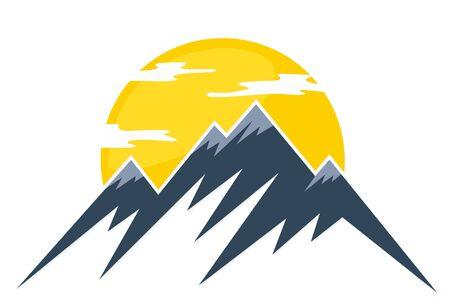 Sun Logo and mountains. Ilustrace