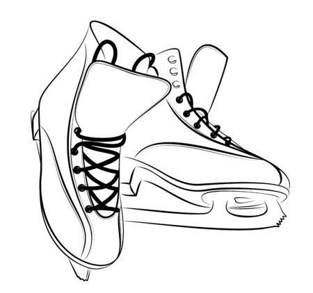 Sketch of the figured skates. Illustration