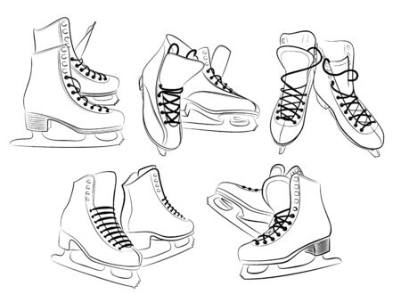 Sketch of the figured skates. Stock Vector - 91275017
