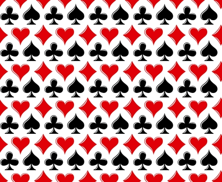 A background with symbols of playing cards. Illustration