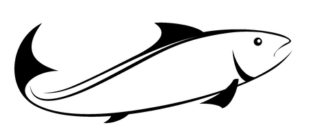 Logo of sea fish.