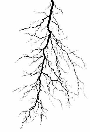A lightning stroke icon illustration. Isolated on white background.