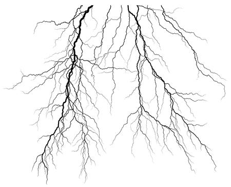 Lightning icon illustration on white background.