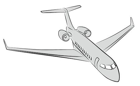 Sketch of passenger liner.
