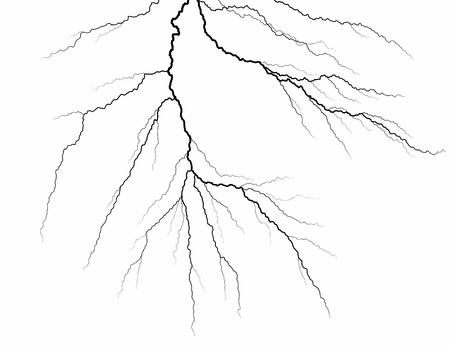 A lightning stroke Vector illustration.