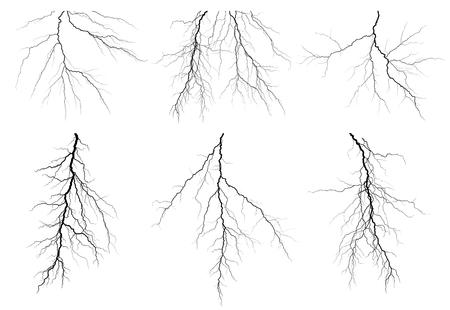 A lightning stroke.