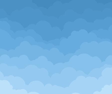 Background with clouds.