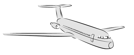 Sketch of passenger liner. 일러스트
