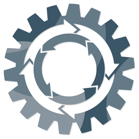 Rotating gear wheel vector. Иллюстрация
