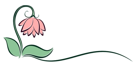 Logo of a pink flower.