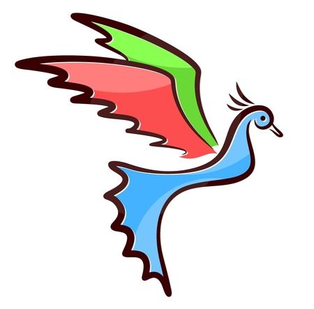 Symbol of color bird.