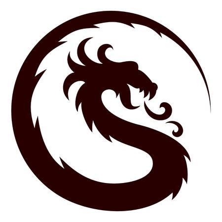 Een symbool van de gestileerde draak.