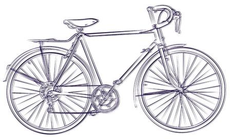 Sketch of the sports bicycle. Illusztráció