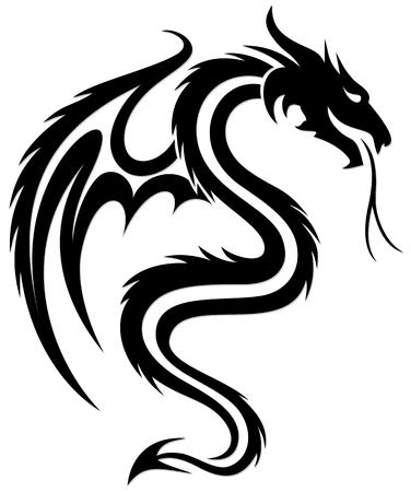 Un simbolo del drago stilizzato con le ali.