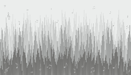 A background with a sound scale and notes. Çizim
