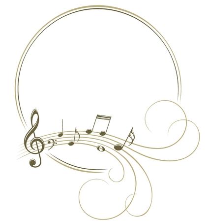 Marco con notas musicales.