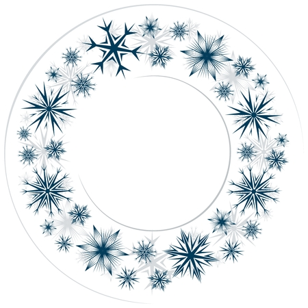 Frame with snowflakes. 向量圖像