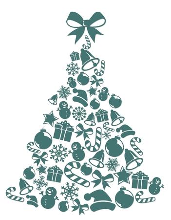 Ein Weihnachtsbaum.