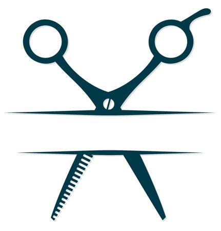 Symbol with scissors.